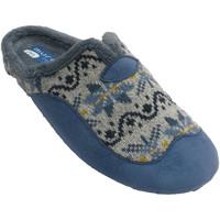 Zapatos Mujer Pantuflas Muro Zapatillas mujer abiertas por detrás abe azul