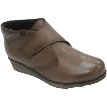 Zapatos Mujer Botas Pepe Menargues Bota tobillera mujer con velcro marrón