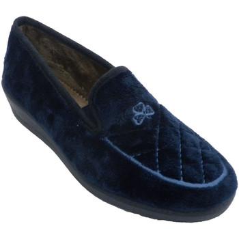 Zapatos Mujer Pantuflas Aguas Nuevas Zapatillas mujer cerradas con bordado en azul