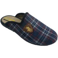 Zapatos Hombre Pantuflas Aguas Nuevas Zapatillas cuadros hombre abiertas detrá azul