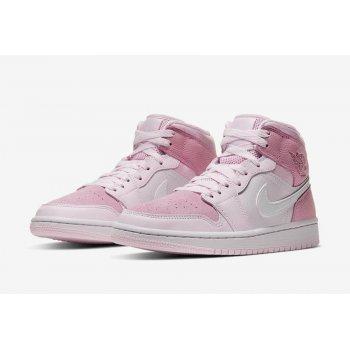 "Zapatos Zapatillas bajas Nike Air Jordan 1 Mid WMNS ""Digital Pink""  Digital Pink/White-Pink Foam-Sail"