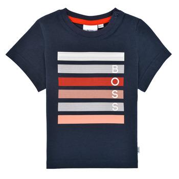 textil Niño Camisetas manga corta BOSS FINITANA Marino