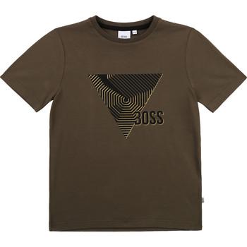 textil Niño Camisetas manga corta BOSS J25L02-64C-C Kaki