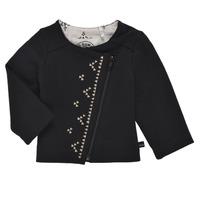 textil Niña Chaquetas de punto Ikks XS17020-02 Negro