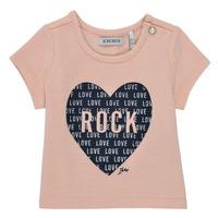 textil Niña Camisetas manga corta Ikks XS10120-31 Rosa