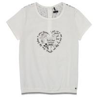 textil Niña Camisetas manga corta Ikks XS10242-19-C Blanco