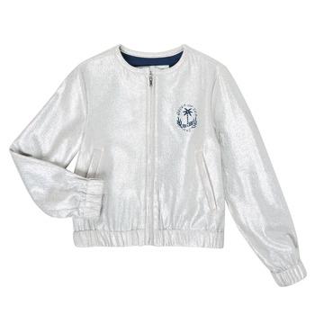 textil Niña Chaquetas / Americana Ikks XS17042-18-J Plateado
