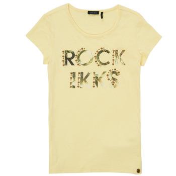 textil Niña Camisetas manga corta Ikks XS10182-73-J Amarillo