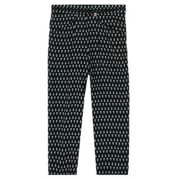 textil Niña Pantalones fluidos Ikks XS22002-02-C Negro