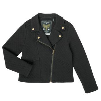 textil Niña Chaquetas de punto Ikks XS17012-02-J Negro