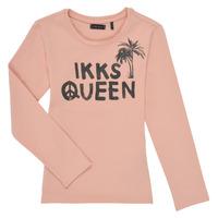 textil Niña Camisetas manga larga Ikks XS10092-32-C Rosa