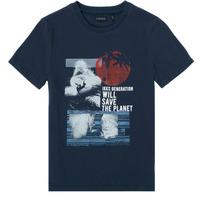 textil Niño Camisetas manga corta Ikks XS10013-48-J Marino