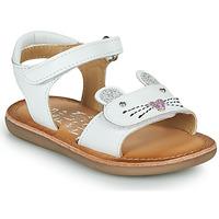 Zapatos Niña Sandalias Mod'8 CLOONIE Blanco