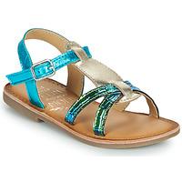 Zapatos Niña Sandalias Mod'8 CALICOT Turquesa / Oro