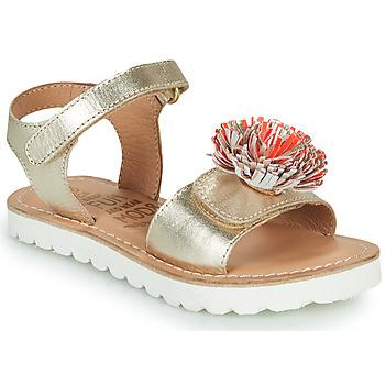 Zapatos Niña Sandalias Mod'8 JELLINE Oro / Coral