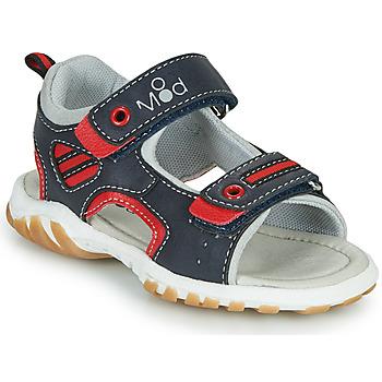 Zapatos Niño Sandalias Mod'8 TOPPY Marino / Rojo