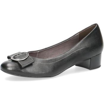 Zapatos Mujer Bailarinas-manoletinas Caprice Elegantes tacones bajos negro Black