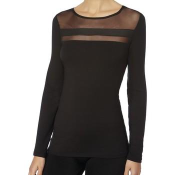 textil Mujer Camisetas manga larga Janira Camiseta  Lizard Modal 1073318 Black