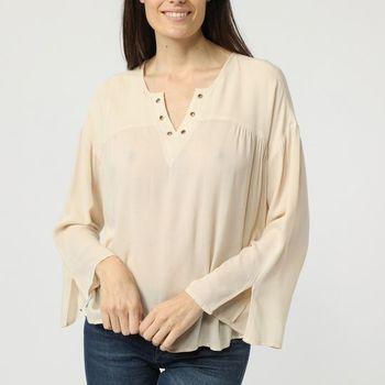 textil Mujer Tops / Blusas La Morena LA-410014 BEIGE