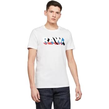 textil Hombre Camisetas manga corta G-Star Raw D17112-336-110 WHITE Blanco