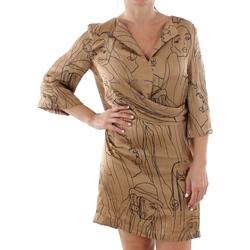 textil Mujer Vestidos cortos Sandro Ferrone ZANZARA CAMMELLO Marrón