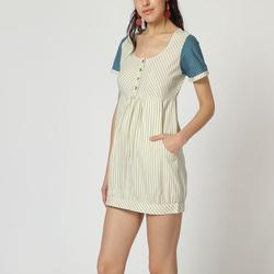 textil Mujer Vestidos cortos Laga D362 BLANCO