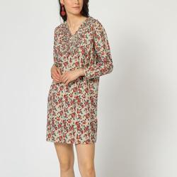 textil Mujer Vestidos cortos Laga D450 BEIGE