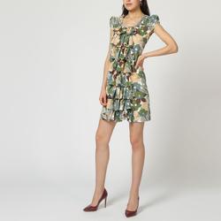 textil Mujer Vestidos cortos Laga D508 VERDE