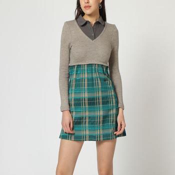 textil Mujer Vestidos cortos Laga D657 GRIS