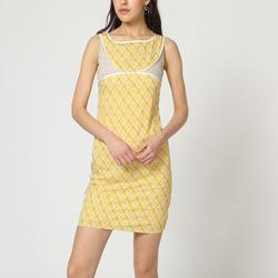 textil Mujer Vestidos cortos Laga D744 AMARILLO