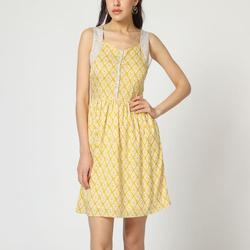 textil Mujer Vestidos cortos Laga D746 AMARILLO