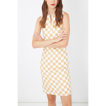 textil Mujer Vestidos cortos Laga D755 BEIGE
