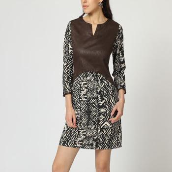 textil Mujer Vestidos cortos Laga D760 MARRON