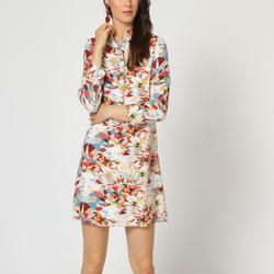 textil Mujer Vestidos cortos Laga D767 BLANCO