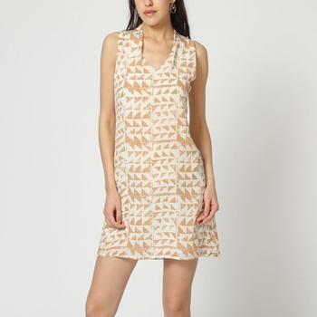 textil Mujer Vestidos cortos Laga D782 BEIGE