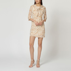 textil Mujer Vestidos cortos Laga D783 BEIGE