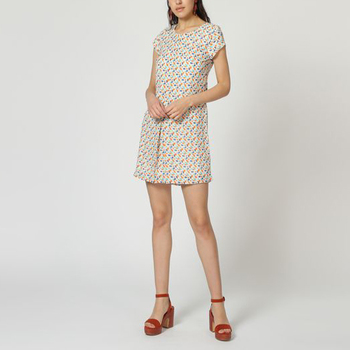 textil Mujer Vestidos cortos Laga D787 BLANCO