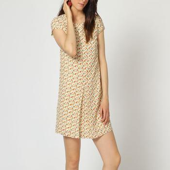 textil Mujer Vestidos cortos Laga D787 BEIGE