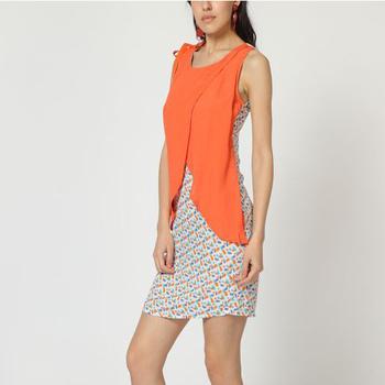 textil Mujer Vestidos cortos Laga D788 NARANJA