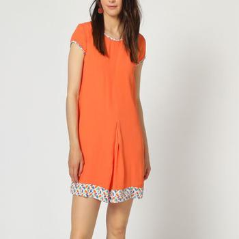 textil Mujer Vestidos cortos Laga D792 NARANJA