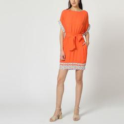 textil Mujer Vestidos cortos Laga D793 NARANJA