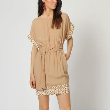 textil Mujer Vestidos cortos Laga D793 BEIGE
