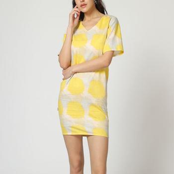 textil Mujer Vestidos cortos Laga D794 AMARILLO