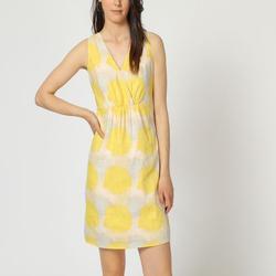 textil Mujer Vestidos cortos Laga D795 AMARILLO