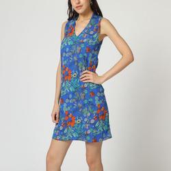 textil Mujer Vestidos cortos Laga D798 AZUL