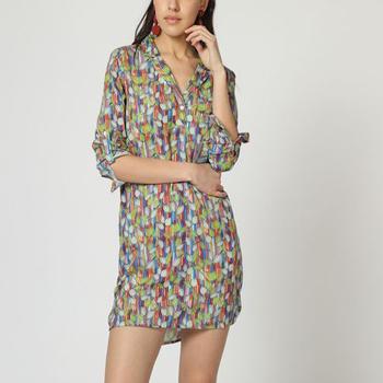 textil Mujer Vestidos cortos Laga D800 VERDE