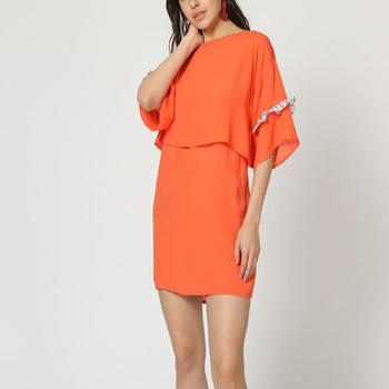 textil Mujer Vestidos cortos Laga D804 NARANJA