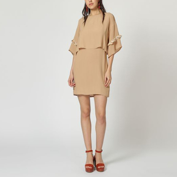 textil Mujer Vestidos cortos Laga D804 MARRON