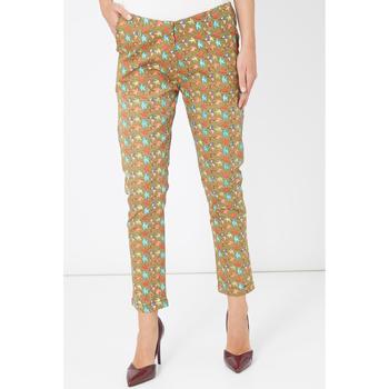 textil Mujer Pantalones chinos Laga Q49 VERDE