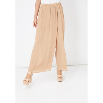 textil Mujer Pantalones fluidos Laga Q50 BEIGE